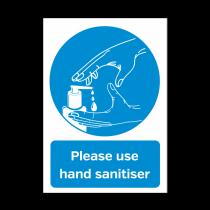 A5 Please Use The Hand Sanitiser Provided Vinyl Sticker