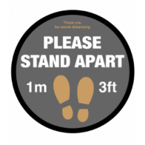 Please Stand 1m / 3ft Apart Floor Graphic 400mm