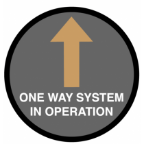 One Way System In Operation Floor Graphic 400m