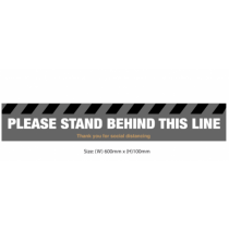 Please Stand Behind This Line Floor Graphic 600 x 100mm