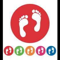School Social Distancing Feet Symbol Circular Floor Graphics 200mm