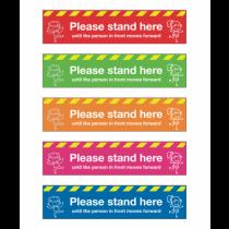 Please Stand Here School Social Distancing Floor Graphics 600x100mm