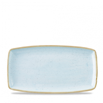 Churchill Stonecast Duck Egg Oblong Plate 35 x 18.5cm