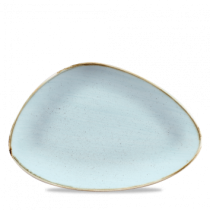 Churchill Stonecast Duck Egg Triangle Plate 30.4 x 20.5cm
