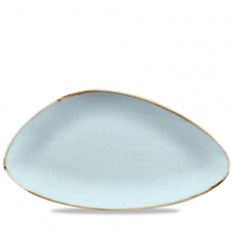 Churchill Stonecast Duck Egg Triangle Plate 35.5 x 18.8cm