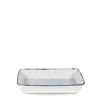 Churchill Stonecast Hints Rectangular Baking Dish Indigo Blue 38 x 25 x 6.2cm