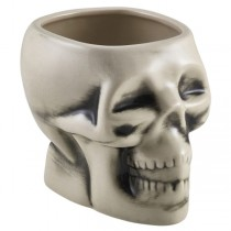 White Tiki Skull Mugs 14oz / 40cl