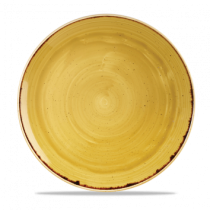 Churchill Stonecast Mustard Seed Yellow Coupe Plate 26cm
