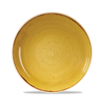 Churchill Stonecast Mustard Seed Yellow Coupe Bowl 24.8cm