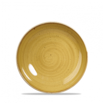 Churchill Stonecast Mustard Seed Yellow Coupe Plate 16.5cm