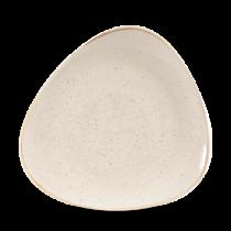 Churchill Stonecast Triangle Plate Nutmeg Cream 26.5cm