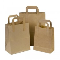 SOS Pure Kraft Carrier Bags Large
