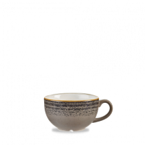 Churchill Studio Prints Homespun Cappuccino Cup Charcoal Black 22.7cl