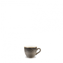 Churchill Studio Prints Homespun Espresso Cup Charcoal Black 10cl