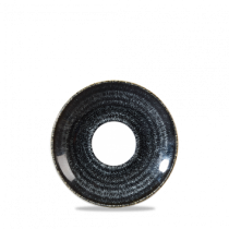 Churchill Studio Prints Homespun Saucer Charcoal Black 15.6cm