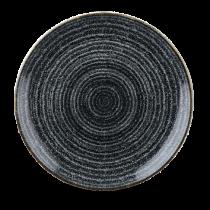 Churchill Studio Prints Homespun Coupe Plate Charcoal Black 26cm