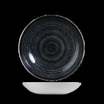 Churchill Studio Prints Homespun Coupe Bowl Charcoal Black 18.2cm