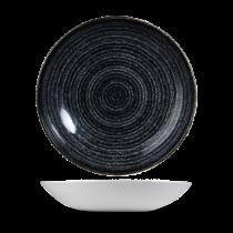 Churchill Studio Prints Homespun Coupe Bowl Charcoal Black 24.8cm