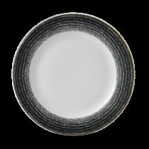 Churchill Studio Prints Homespun Rimmed Plate Charcoal Black 26.1cm
