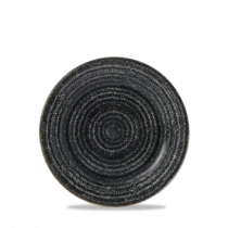 Churchill Studio Prints Homespun Rimmed Plate Charcoal Black 17cm