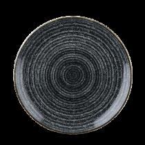 Churchill Studio Prints Homespun Coupe Plate Charcoal Black 21.7cm