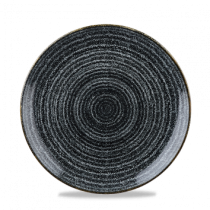 Churchill Studio Prints Homespun Coupe Plate Charcoal Black 16.5cm