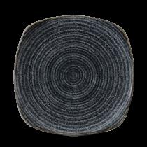 Churchill Studio Prints Homespun Square Plate Charcoal Black 21.5cm