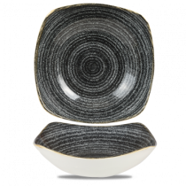 Churchill Studio Prints Homespun Square Bowl Charcoal Black 23.5cm