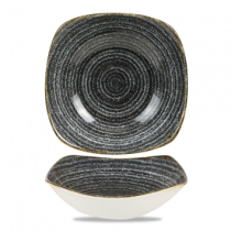 Churchill Studio Prints Homespun Square Bowl Charcoal Black 20.7cm