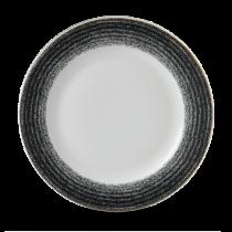 Churchill Studio Prints Homespun Rimmed Plate Charcoal Black 27.6cm