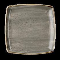 Churchill Stonecast Peppercorn Grey Deep Square Plate 26.8cm