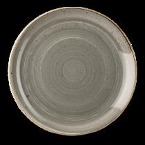 Churchill Stonecast Peppercorn Grey Coupe Plate 32.4cm