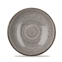 Churchill Stonecast Peppercorn Grey Coupe Bowl 18.2cm