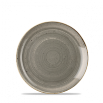 Churchill Stonecast Peppercorn Grey Coupe Plate 21.7cm