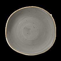 Churchill Stonecast Peppercorn Grey Organic Round Plate 26.4cm
