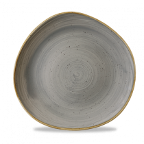 Churchill Stonecast Peppercorn Grey Organic Round Plate 28.6cm