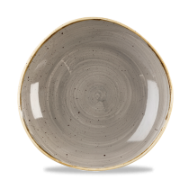 Churchill Stonecast Peppercorn Grey Organic Round Bowl 25.3cm