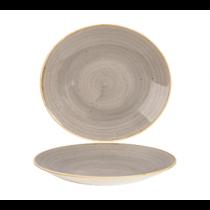 Churchill Stonecast Peppercorn Grey Deep Coupe Plate 27cm