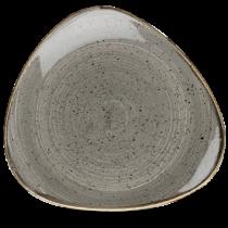 Churchill Stonecast Peppercorn Grey Triangle Plate 31.1cm