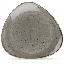 Churchill Stonecast Peppercorn Grey Triangle Plate 26.5cm