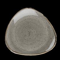 Churchill Stonecast Peppercorn Grey Triangle Plate 22.9cm