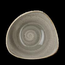 Churchill Stonecast Peppercorn Grey Triangle Bowl 18.5cm