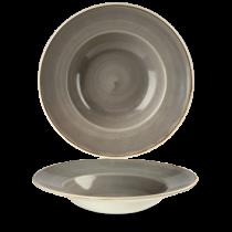 Churchill Stonecast Peppercorn Grey Wide Rim Bowl 24cm