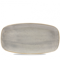 Churchill Stonecast Peppercorn Grey Chefs Oblong Plate 35.5 x 18.9cm