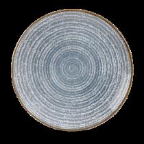Churchill Studio Prints Homespun Coupe Plate Slate Blue 28.8cm
