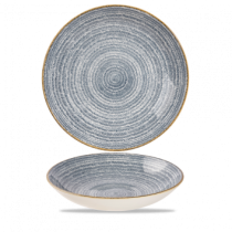 Churchill Studio Prints Homespun Coupe Bowl Slate Blue 24.8cm