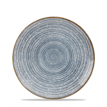 Churchill Studio Prints Homespun Coupe Plate Slate Blue 21.7cm