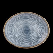 Churchill Studio Prints Homespun Oval Plate Slate Blue 31.7 x 25.5cm