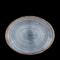 Churchill Studio Prints Homespun Oval Plate Slate Blue 27 x 22.9cm