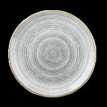 Churchill Studio Prints Homespun Coupe Plate Stone Grey 26cm
